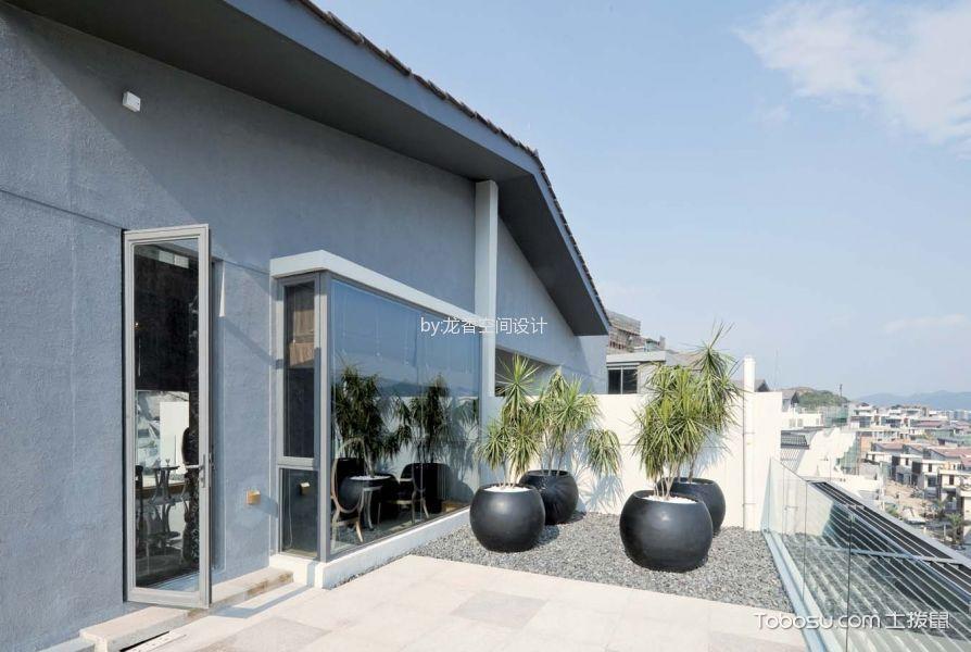 阳台灰色地砖现代风格装潢图片