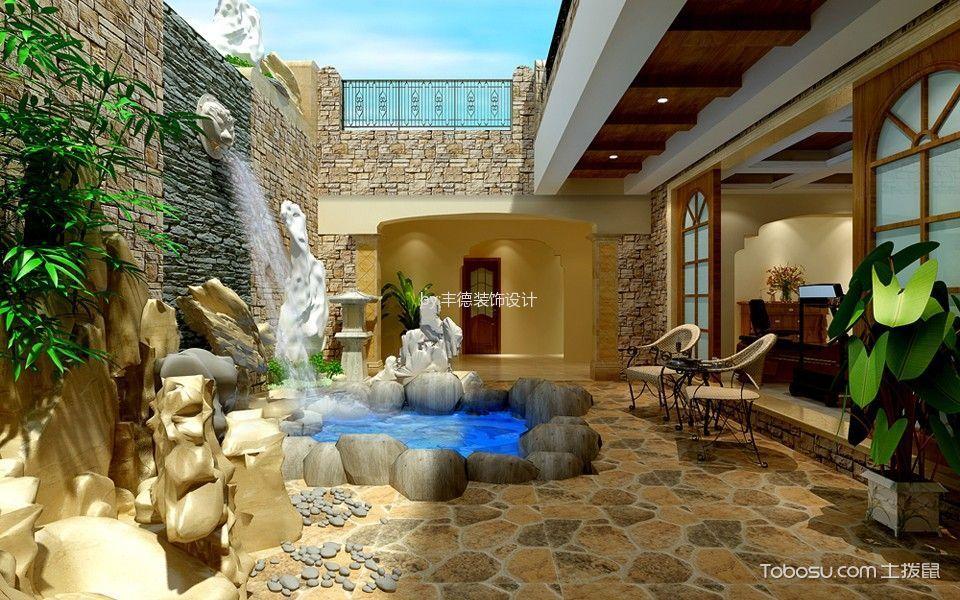 花园 地板砖_西班牙情怀别墅欧式田园风格装修效果图
