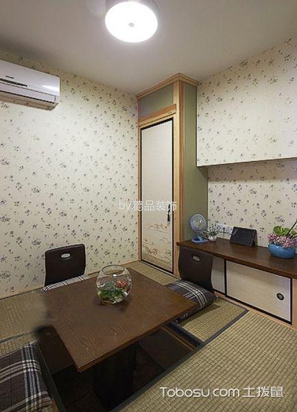 卧室黄色榻榻米混搭风格装潢设计图片