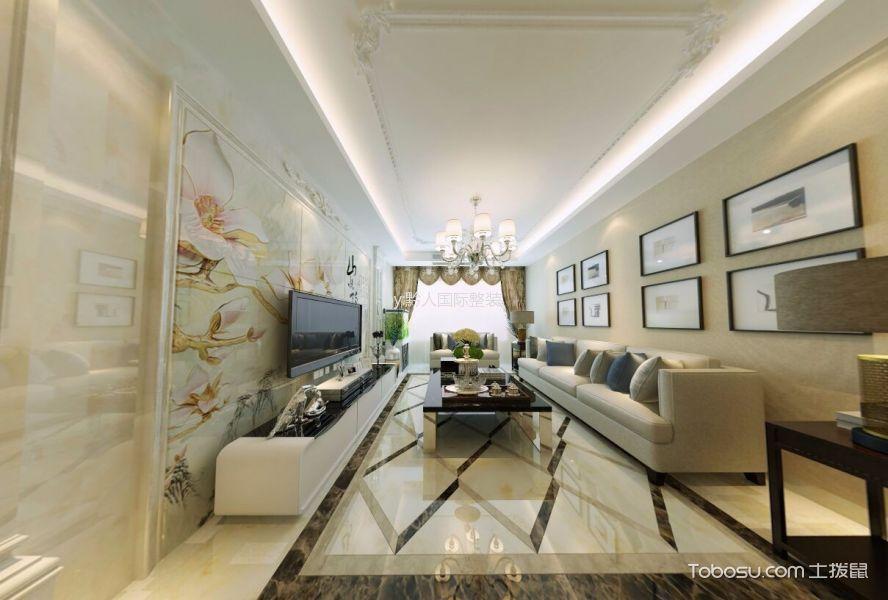 阳光首院三居室混搭风格装修效果图