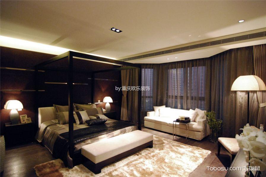 卧室白色吊顶混搭风格装潢设计图片