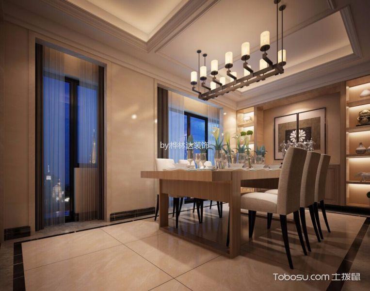 深圳君悦龙庭200平米新中式风格效果图