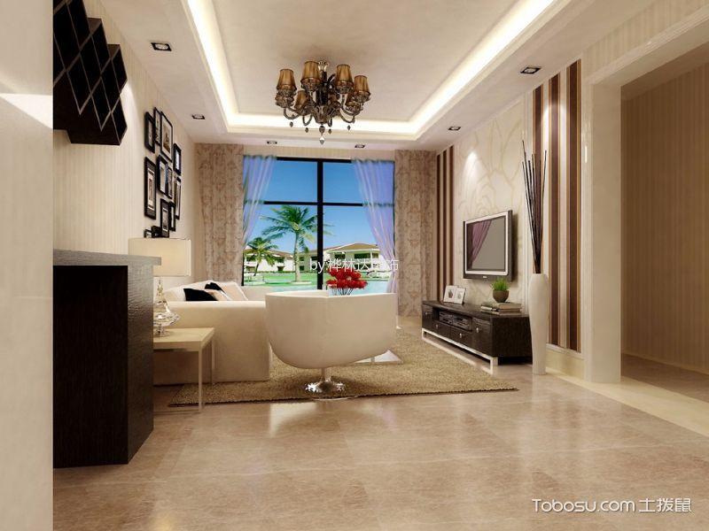 紫云庭现代简欧混搭三居室装修效果图