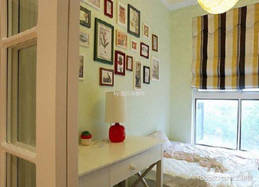 卧室绿色照片墙现代简约风格装修图片