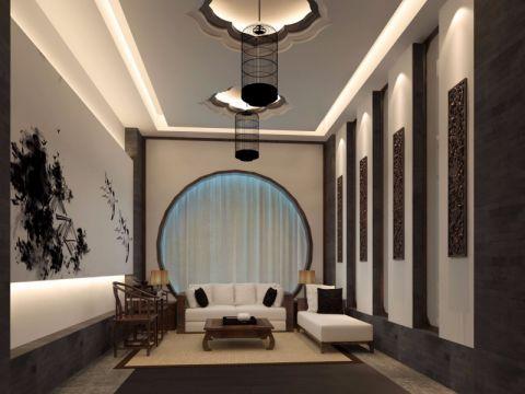 怡丰森林湖别墅350平米中式风格装修效果图