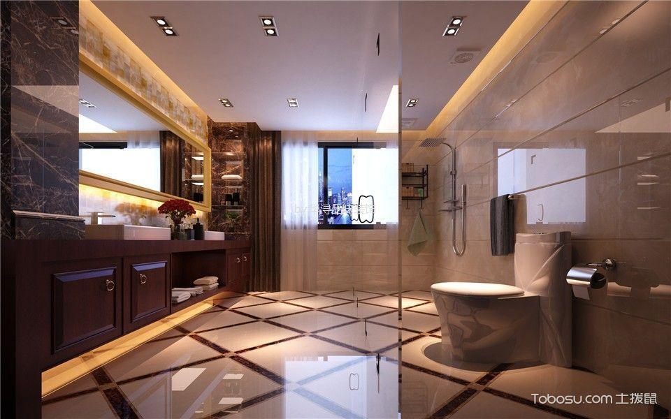 卫生间白色吊顶美式风格装修图片
