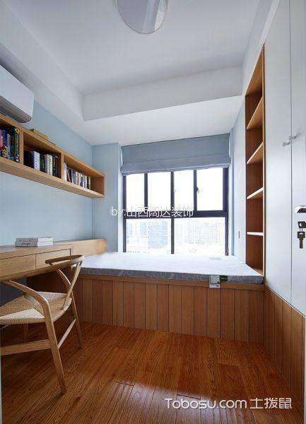 卧室咖啡色榻榻米北欧风格效果图