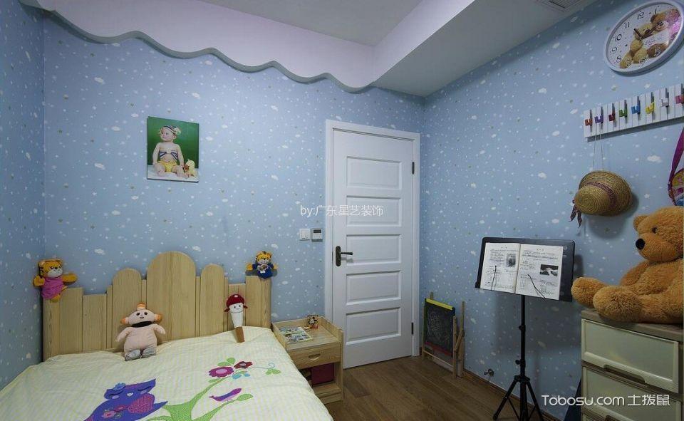 儿童房黄色床现代简约风格装修设计图片