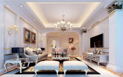 舒适的白色欧式风格装修效果图