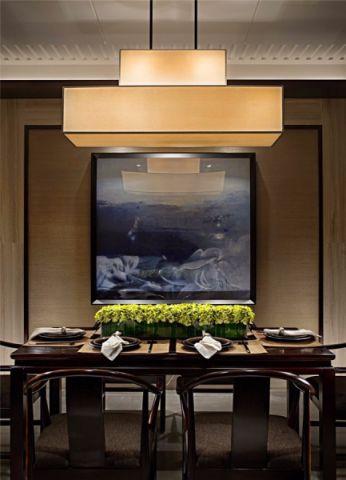 餐厅背景墙新中式风格装饰设计图片