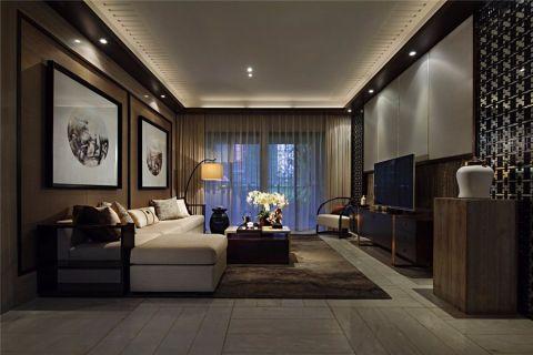 客厅新中式风格装修效果图