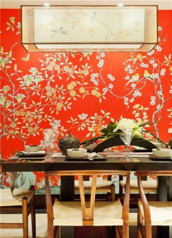 餐厅背景墙简中风格效果图