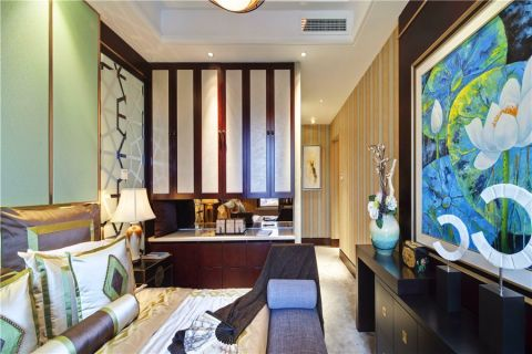 卧室简中风格装饰设计图片