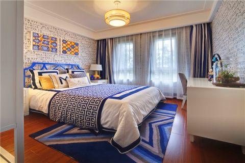 卧室背景墙简中风格装潢设计图片
