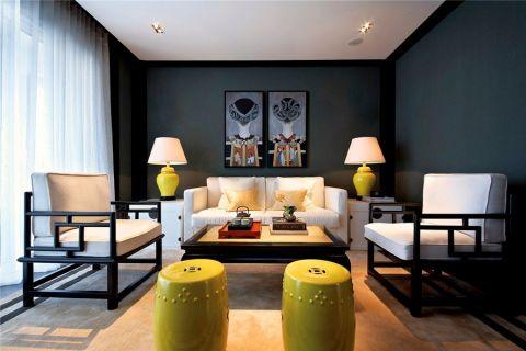客厅中式风格装潢设计图片