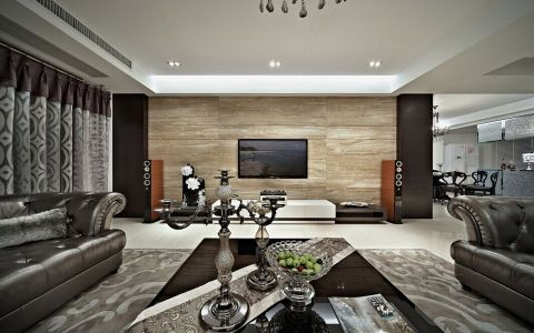 伟梦清水湾复式四居室现代风格装修案例