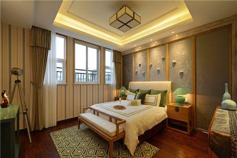 卧室新中式风格装潢图片