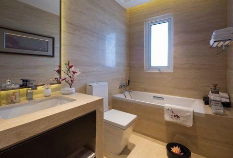 卫生间吧台新中式风格装潢效果图