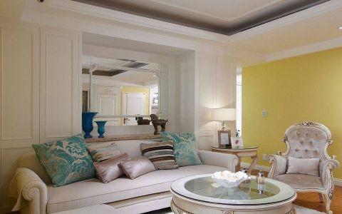 客厅榻榻米简欧风格装饰设计图片