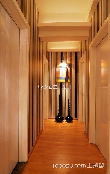 玄关橙色走廊现代风格效果图