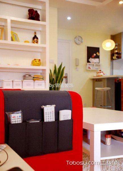 客厅白色书架现代简约风格装修设计图片