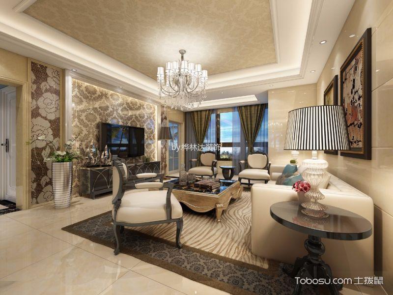 深圳紫云庭126平米现代简约风格效果图