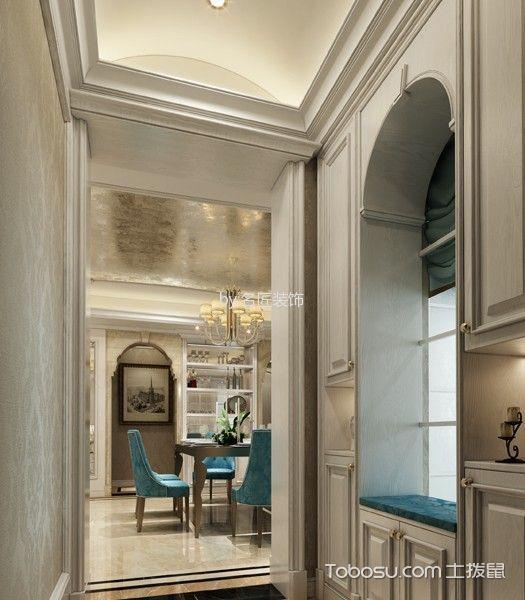 玄关米色走廊法式风格装潢图片