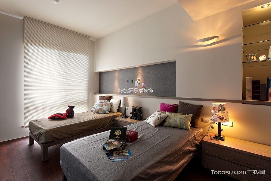卧室白色飘窗北欧风格效果图