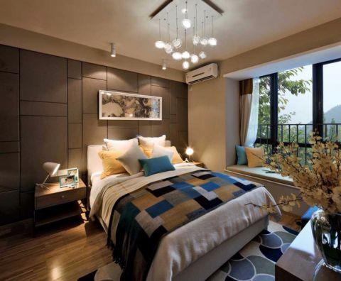 卧室背景墙混搭风格效果图