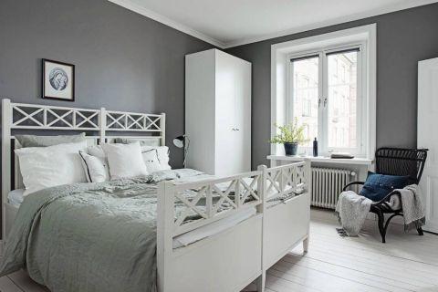 卧室背景墙新古典风格效果图