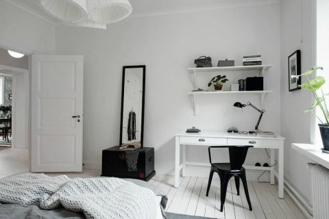 卧室博古架新古典风格装修效果图