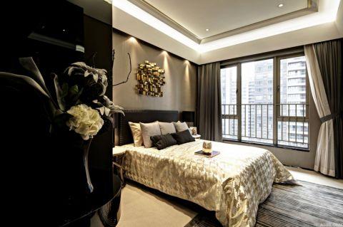 卧室照片墙后现代风格装潢图片