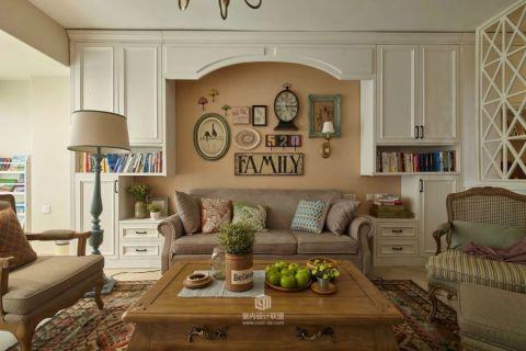 客厅田园风格装修设计图片