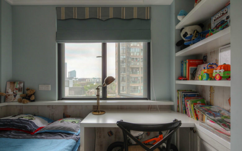 书房窗台美式风格装潢图片