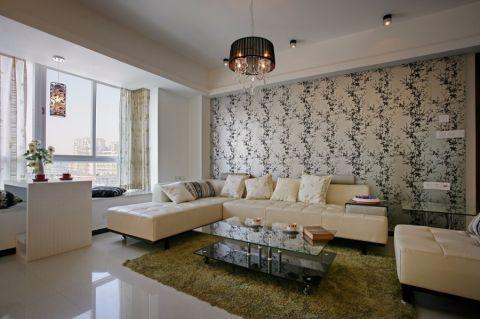 亿城天筑 现代风格两居室装修效果图