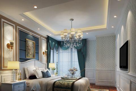 卧室背景墙法式风格装饰设计图片