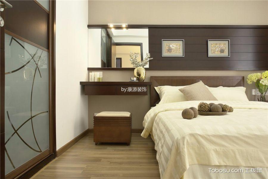 卧室咖啡色地板砖新中式风格装修设计图片