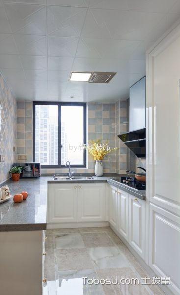 厨房白色橱柜法式风格装修图片