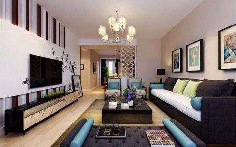 现代简约二居室家装案例图片