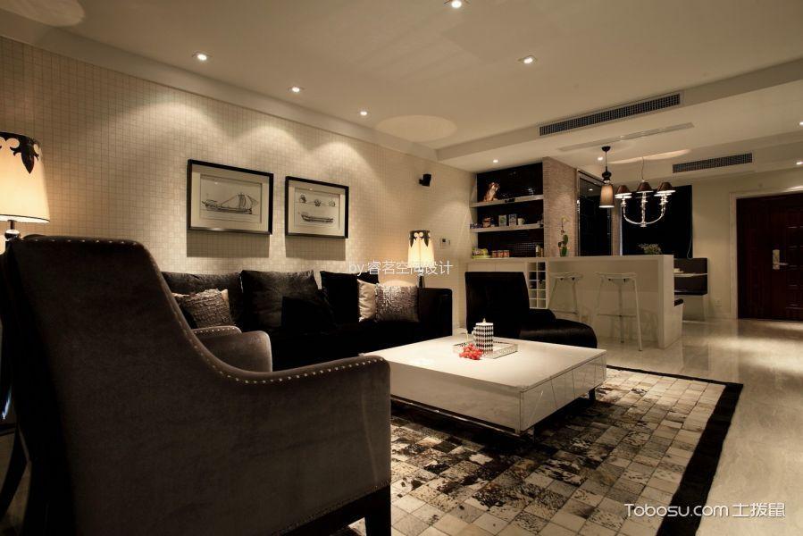 现代简约98平2居室效果图