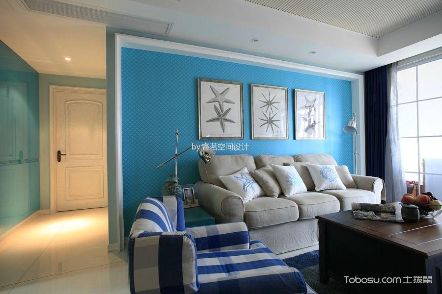 现代地中海86平3居室效果图