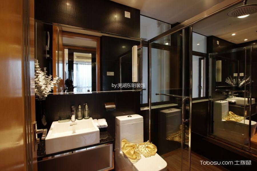 卫生间咖啡色吧台现代简约风格装潢图片
