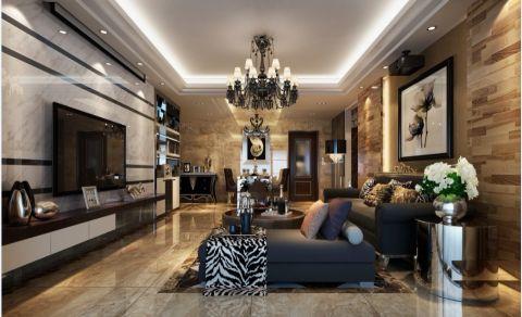 中央城三居室后现代风格装修效果图
