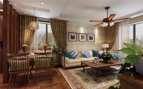 国际城田园风格二居室装修效果图