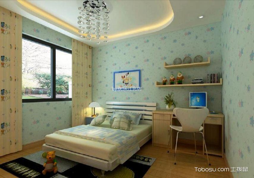 卧室黄色窗帘北欧风格装饰效果图