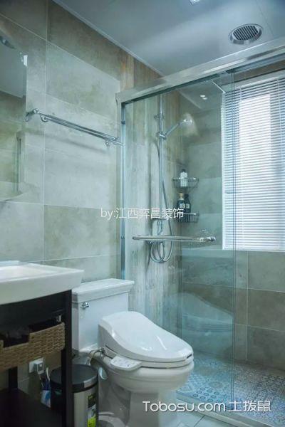 卫生间米色隔断美式风格装修设计图片