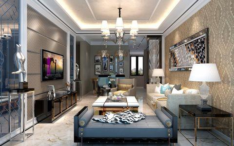 伟星公园大道现代简约90平二居室装修效果图