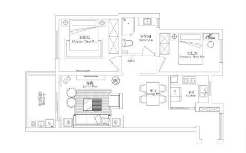2021混搭120平米装修效果图片 2021混搭三居室装修设计图片
