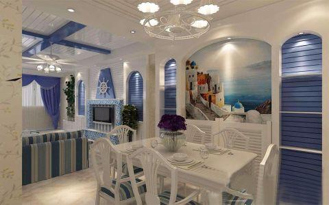 银海樱花语地中海135平三居室效果图
