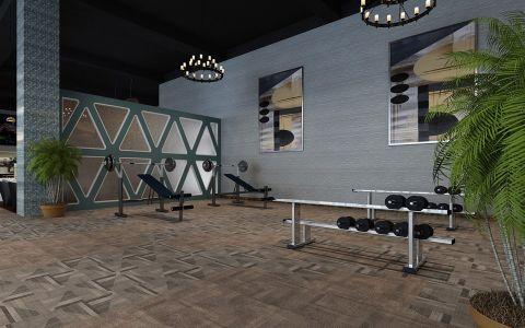 南开区健身房工装装修效果图